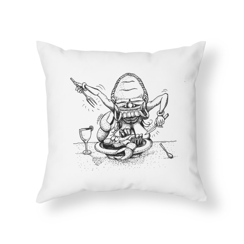 Celuluk Cancer Home Throw Pillow by DuMBSTRaCK CLoTH iNK PROJECT