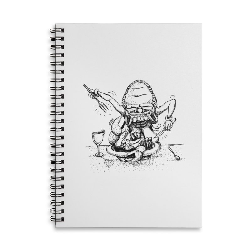 Celuluk Cancer Accessories Lined Spiral Notebook by DuMBSTRaCK CLoTH iNK PROJECT