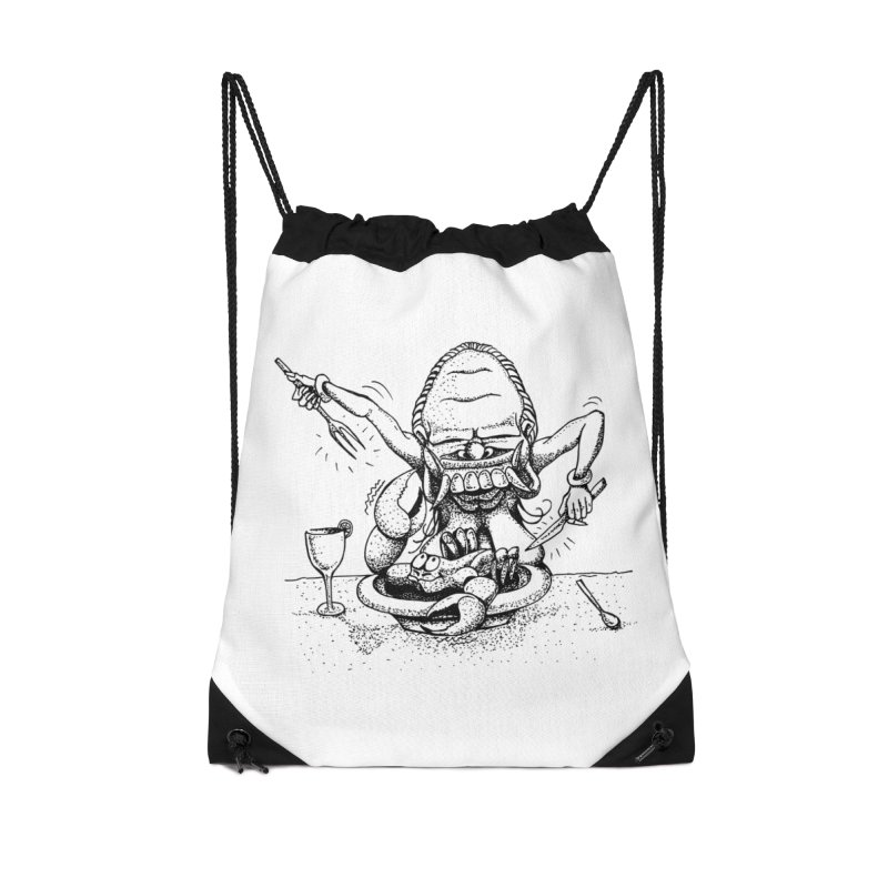 Celuluk Cancer Accessories Drawstring Bag Bag by DuMBSTRaCK CLoTH iNK PROJECT