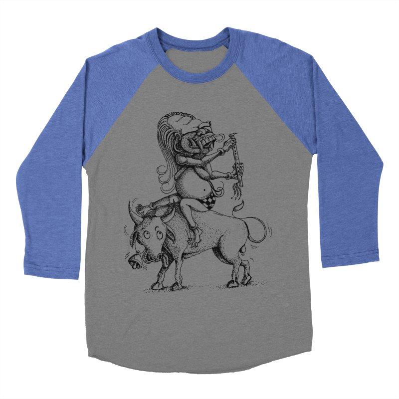 Celuluk Taurus Men's Baseball Triblend Longsleeve T-Shirt by DuMBSTRaCK CLoTH iNK PROJECT