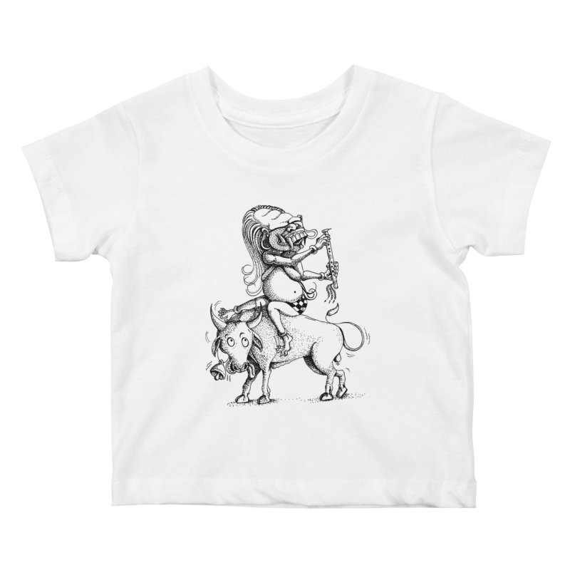 Celuluk Taurus Kids Baby T-Shirt by DuMBSTRaCK CLoTH iNK PROJECT