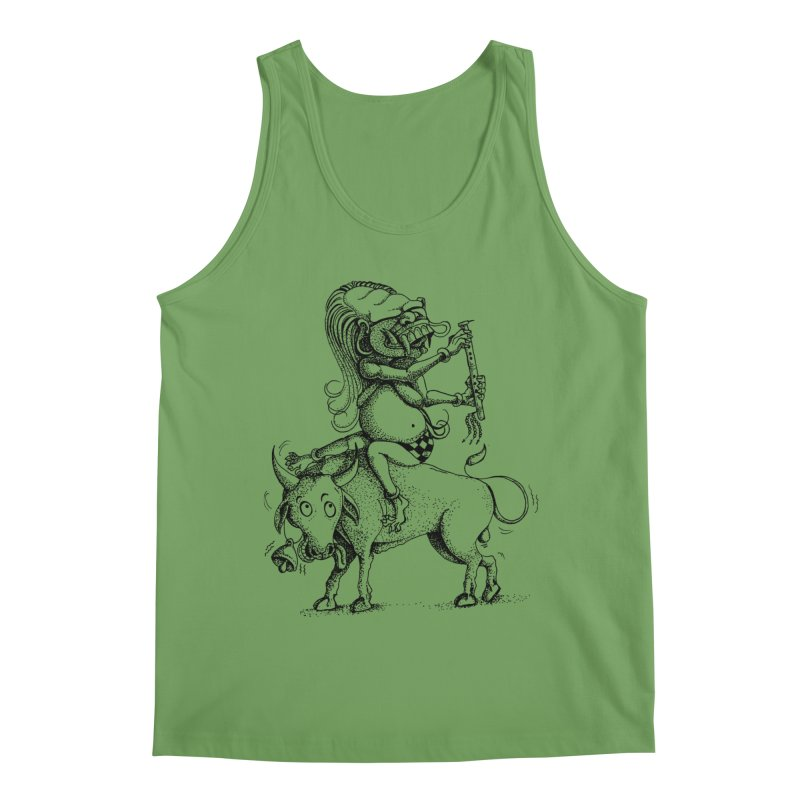 Celuluk Taurus Men's Tank by DuMBSTRaCK CLoTH iNK PROJECT