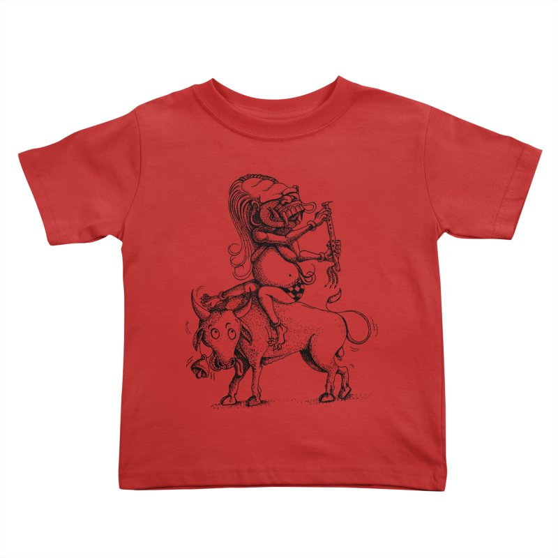 Celuluk Taurus Kids Toddler T-Shirt by DuMBSTRaCK CLoTH iNK PROJECT