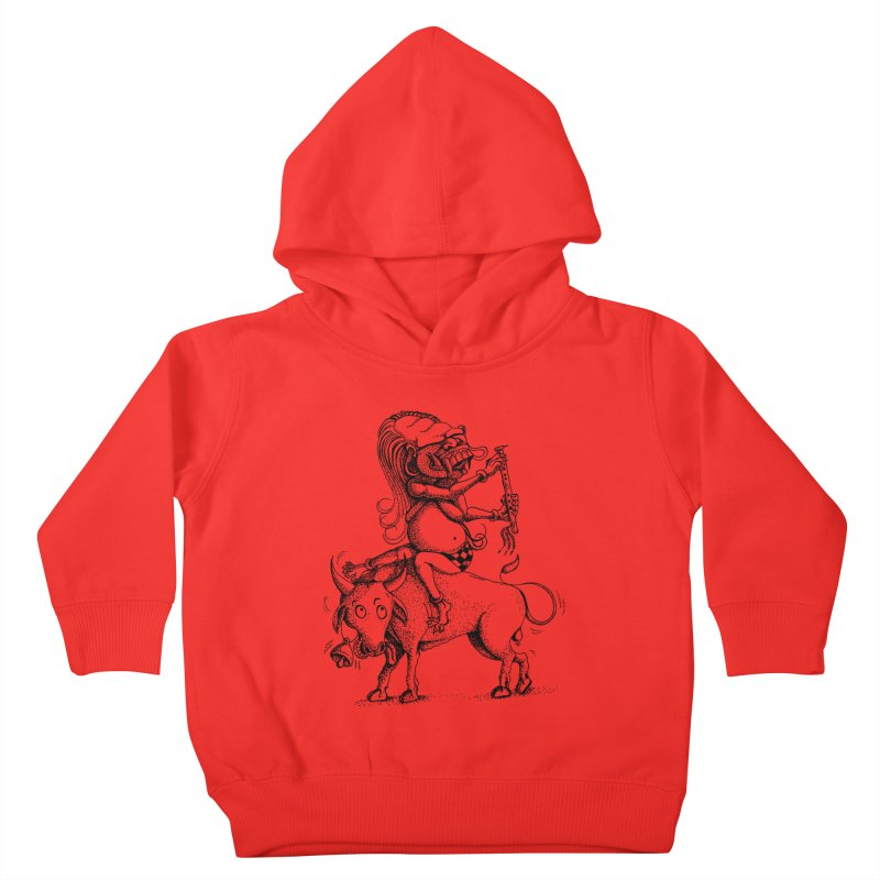 Celuluk Taurus Kids Toddler Pullover Hoody by DuMBSTRaCK CLoTH iNK PROJECT