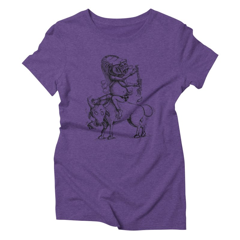 Celuluk Taurus Women's Triblend T-Shirt by DuMBSTRaCK CLoTH iNK PROJECT