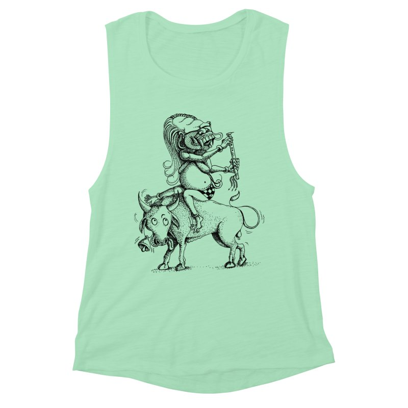 Celuluk Taurus Women's Muscle Tank by DuMBSTRaCK CLoTH iNK PROJECT