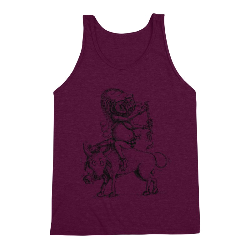 Celuluk Taurus Men's Triblend Tank by DuMBSTRaCK CLoTH iNK PROJECT