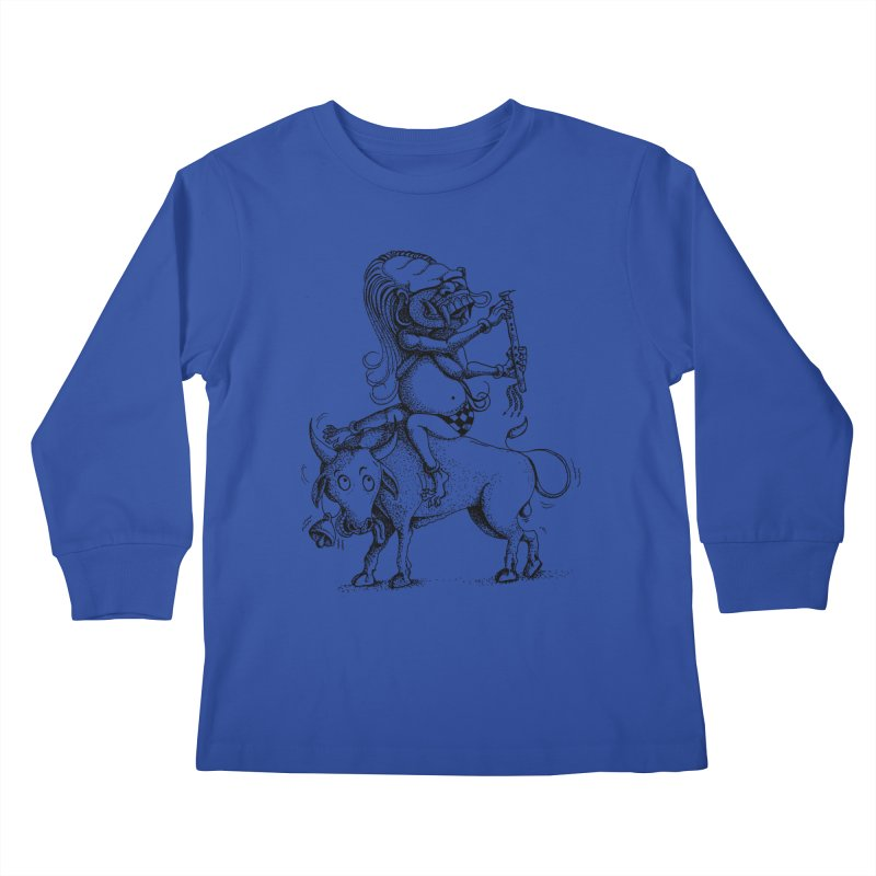 Celuluk Taurus Kids Longsleeve T-Shirt by DuMBSTRaCK CLoTH iNK PROJECT