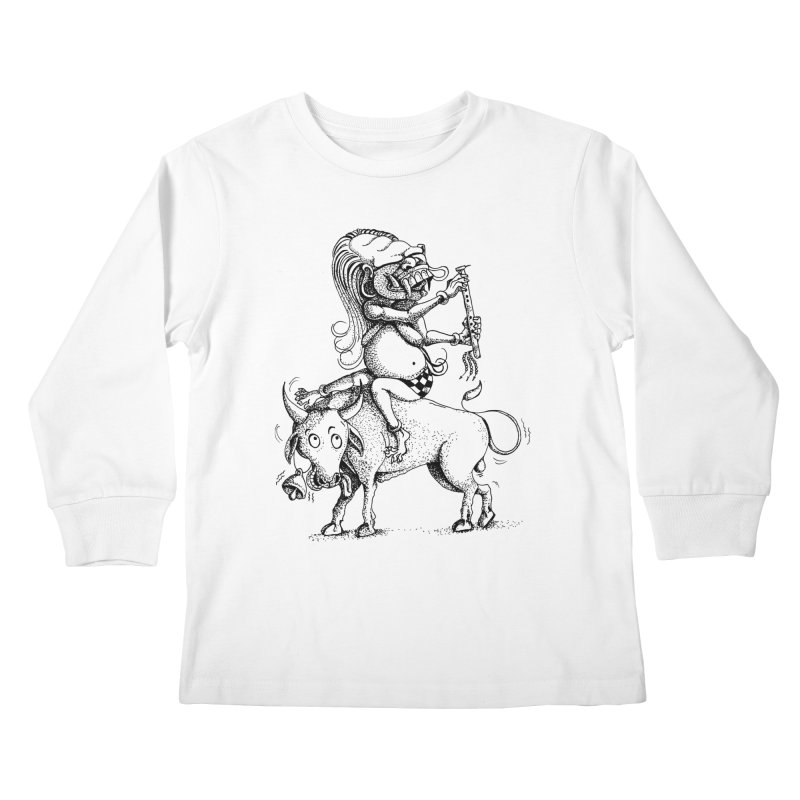 Celuluk Taurus Kids Longsleeve T-Shirt by DuMBSTRaCK CLoTH iNK PROJECT