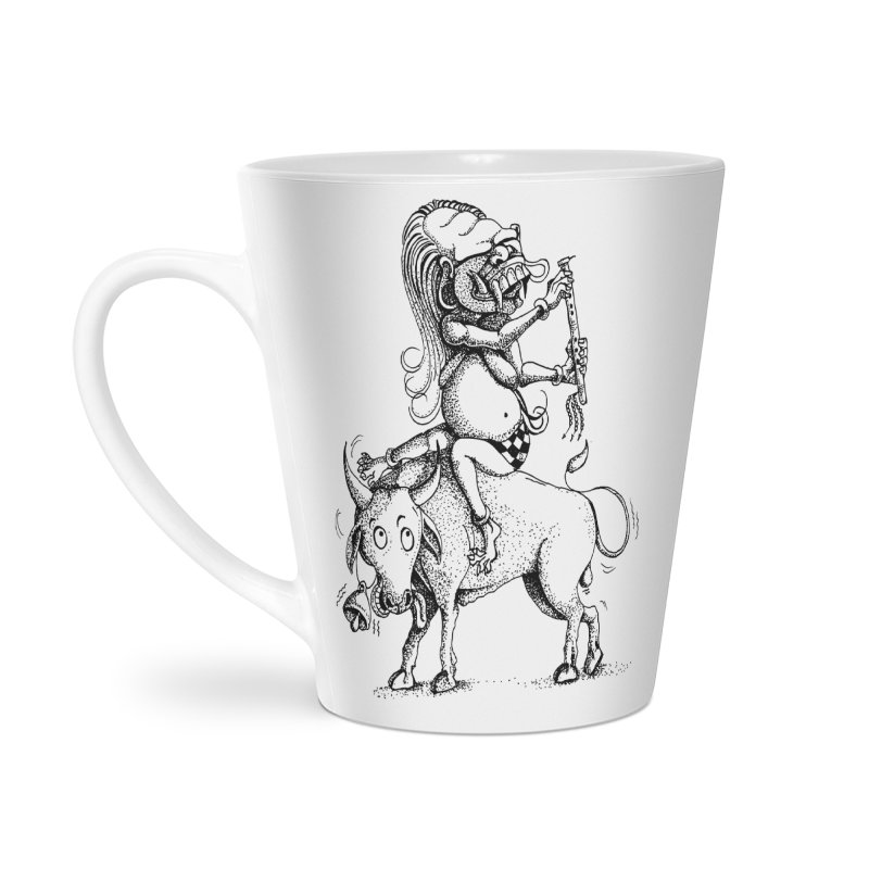 Celuluk Taurus Accessories Latte Mug by DuMBSTRaCK CLoTH iNK PROJECT
