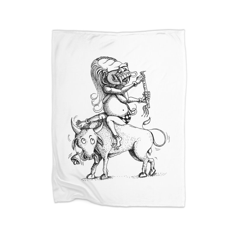 Celuluk Taurus Home Fleece Blanket Blanket by DuMBSTRaCK CLoTH iNK PROJECT