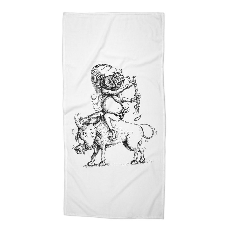 Celuluk Taurus Accessories Beach Towel by DuMBSTRaCK CLoTH iNK PROJECT