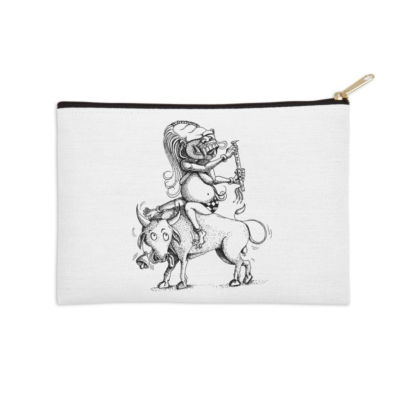 Celuluk Taurus Accessories Zip Pouch by DuMBSTRaCK CLoTH iNK PROJECT