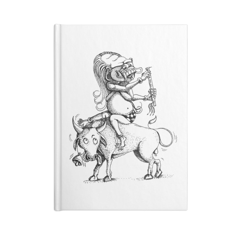 Celuluk Taurus Accessories Blank Journal Notebook by DuMBSTRaCK CLoTH iNK PROJECT