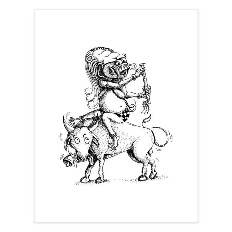 Celuluk Taurus Home Fine Art Print by DuMBSTRaCK CLoTH iNK PROJECT