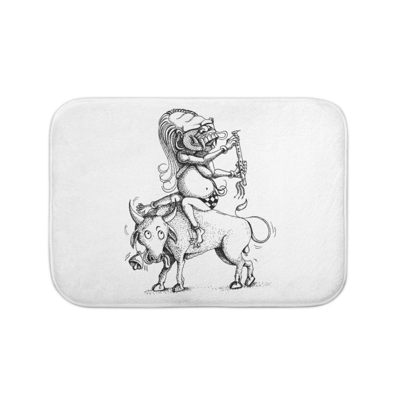 Celuluk Taurus Home Bath Mat by DuMBSTRaCK CLoTH iNK PROJECT