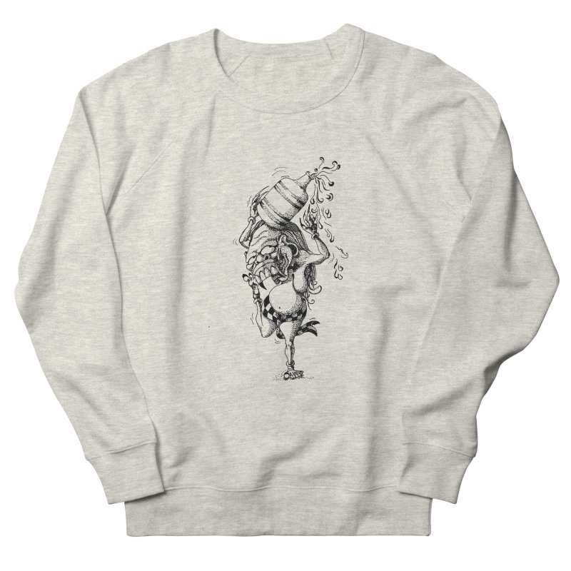 Celuluk Aquarius Women's French Terry Sweatshirt by DuMBSTRaCK CLoTH iNK PROJECT