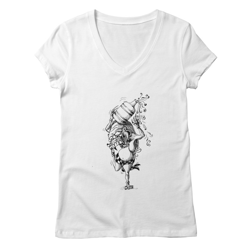 Celuluk Aquarius Women's Regular V-Neck by DuMBSTRaCK CLoTH iNK PROJECT