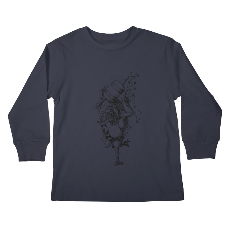 Celuluk Aquarius Kids Longsleeve T-Shirt by DuMBSTRaCK CLoTH iNK PROJECT