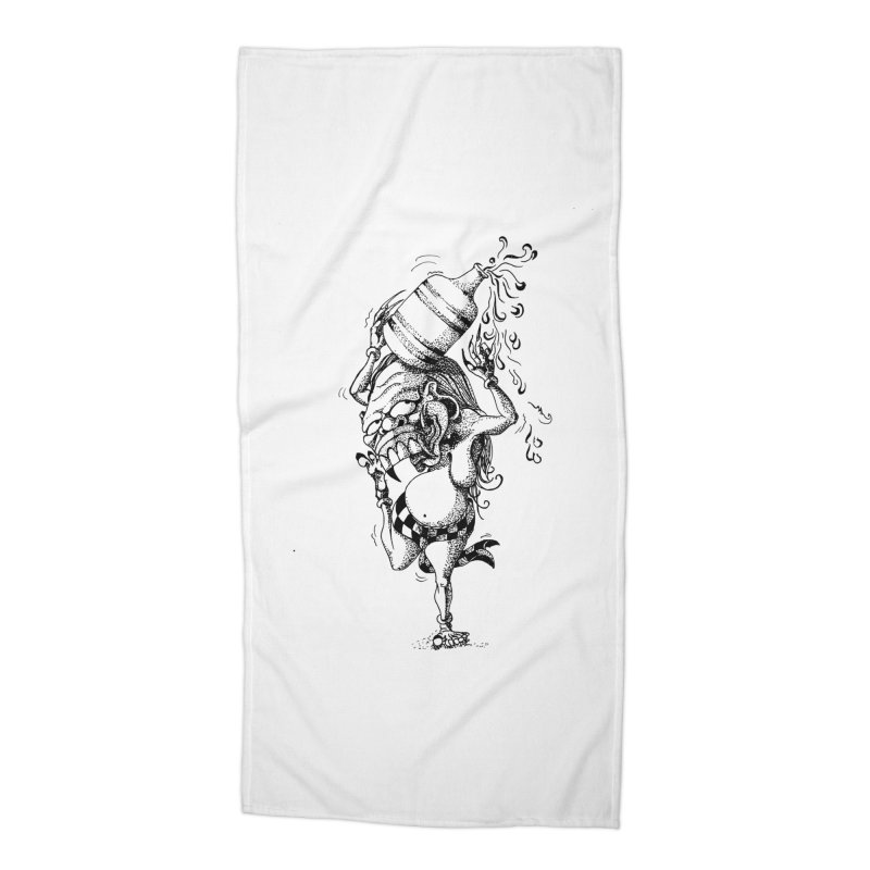 Celuluk Aquarius Accessories Beach Towel by DuMBSTRaCK CLoTH iNK PROJECT