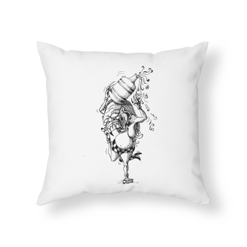 Celuluk Aquarius Home Throw Pillow by DuMBSTRaCK CLoTH iNK PROJECT