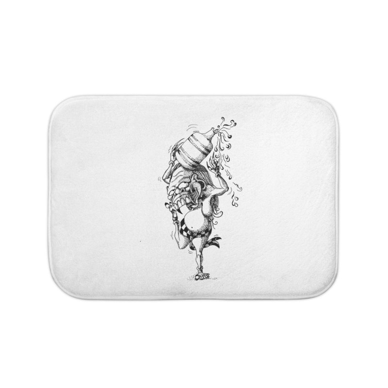 Celuluk Aquarius Home Bath Mat by DuMBSTRaCK CLoTH iNK PROJECT