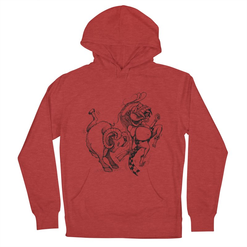 Celuluk Aries Men's French Terry Pullover Hoody by DuMBSTRaCK CLoTH iNK PROJECT