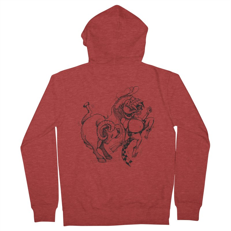 Celuluk Aries Men's French Terry Zip-Up Hoody by DuMBSTRaCK CLoTH iNK PROJECT