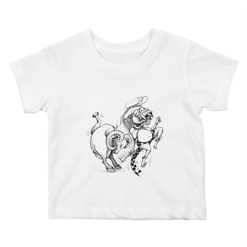Celuluk Aries Kids Baby T-Shirt by DuMBSTRaCK CLoTH iNK PROJECT