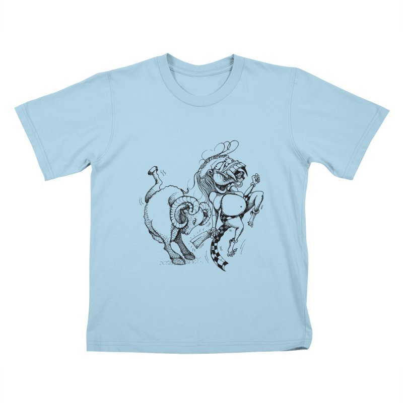 Celuluk Aries Kids T-Shirt by DuMBSTRaCK CLoTH iNK PROJECT