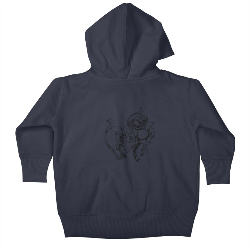 Celuluk Aries Kids Baby Zip-Up Hoody by DuMBSTRaCK CLoTH iNK PROJECT