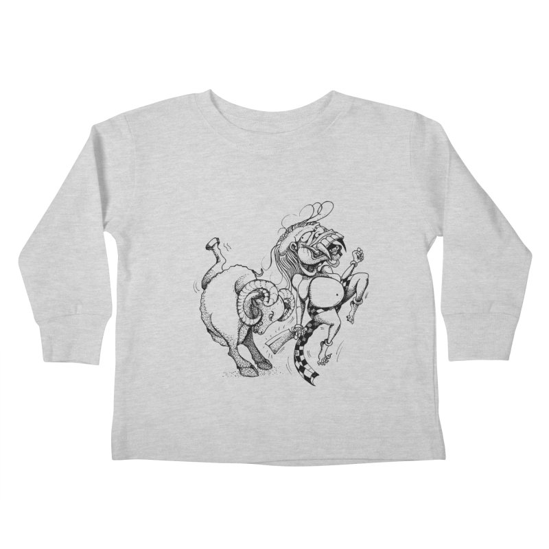 Celuluk Aries Kids Toddler Longsleeve T-Shirt by DuMBSTRaCK CLoTH iNK PROJECT