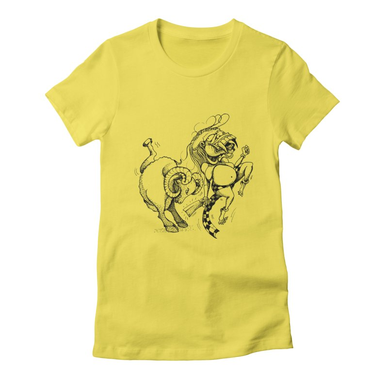 Celuluk Aries Women's Fitted T-Shirt by DuMBSTRaCK CLoTH iNK PROJECT