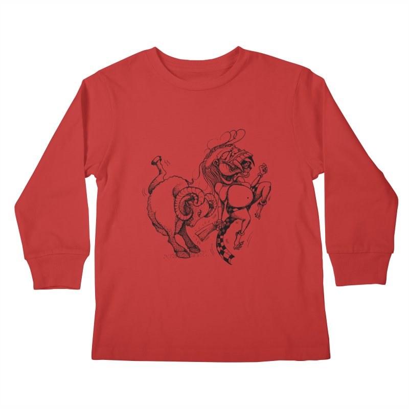 Celuluk Aries Kids Longsleeve T-Shirt by DuMBSTRaCK CLoTH iNK PROJECT