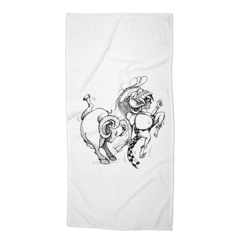 Celuluk Aries Accessories Beach Towel by DuMBSTRaCK CLoTH iNK PROJECT