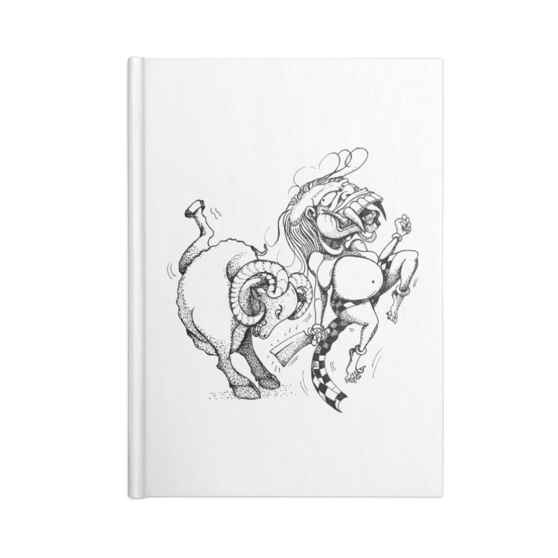 Celuluk Aries Accessories Blank Journal Notebook by DuMBSTRaCK CLoTH iNK PROJECT