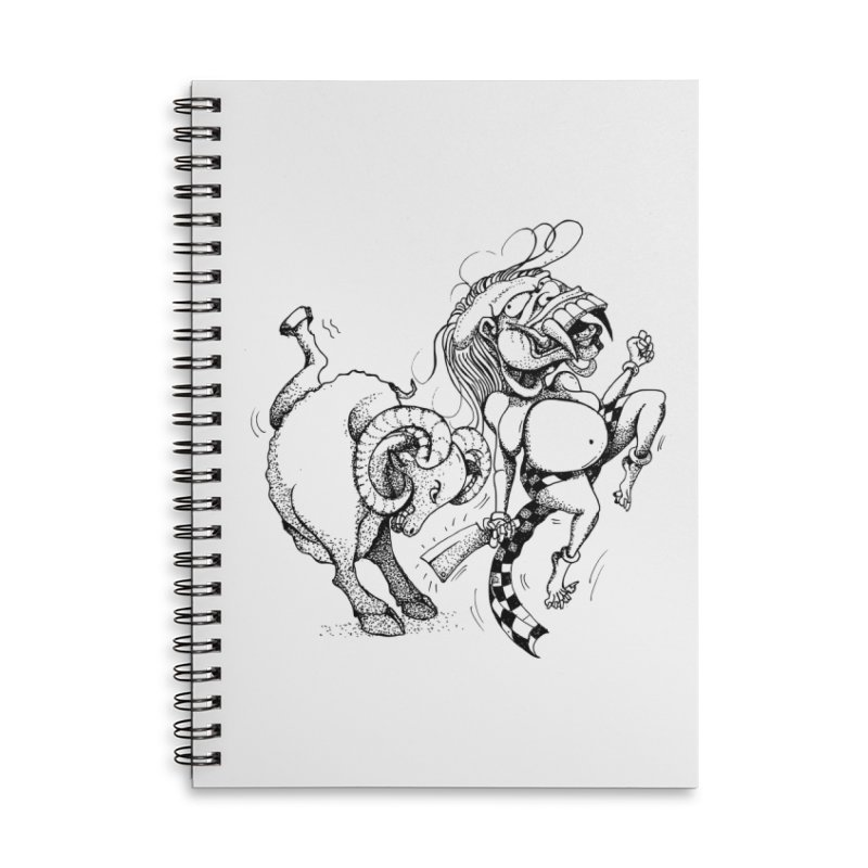 Celuluk Aries Accessories Lined Spiral Notebook by DuMBSTRaCK CLoTH iNK PROJECT