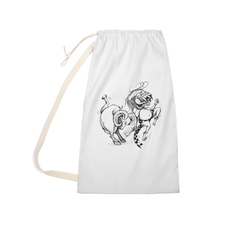Celuluk Aries Accessories Laundry Bag Bag by DuMBSTRaCK CLoTH iNK PROJECT