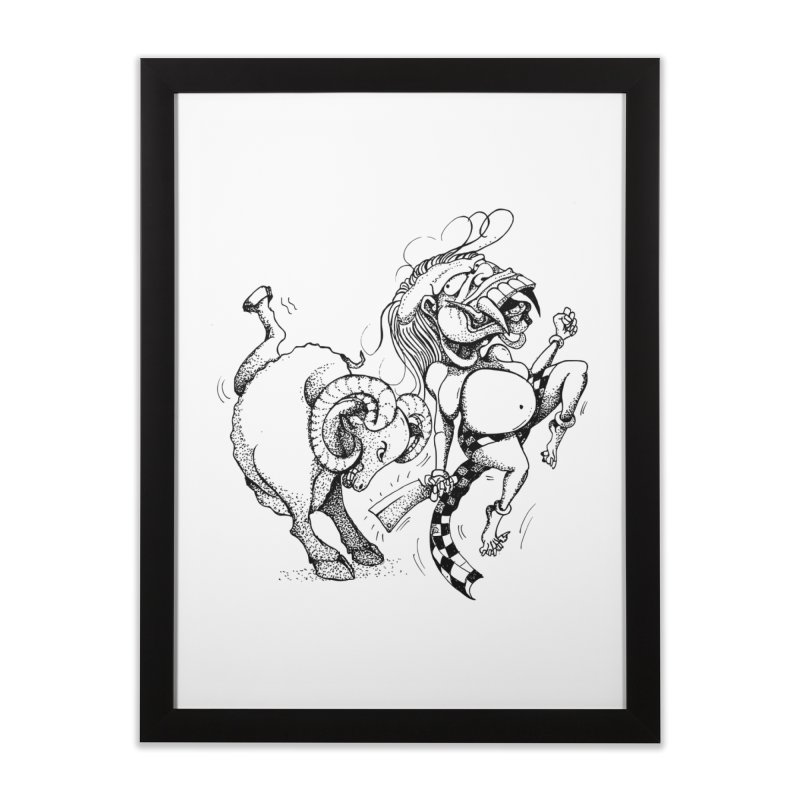 Celuluk Aries Home Framed Fine Art Print by DuMBSTRaCK CLoTH iNK PROJECT