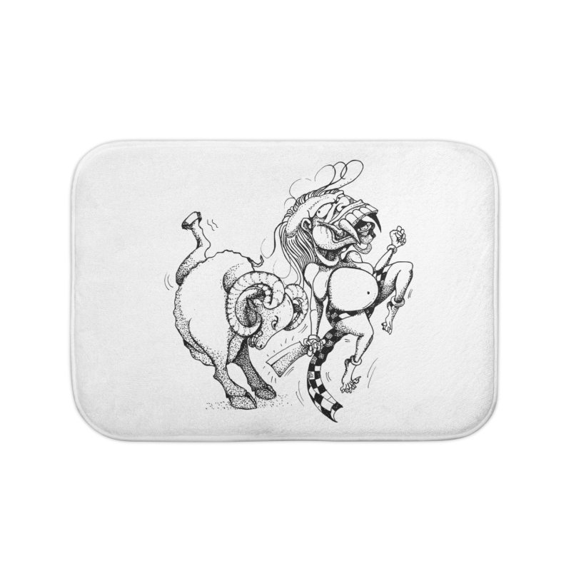 Celuluk Aries Home Bath Mat by DuMBSTRaCK CLoTH iNK PROJECT