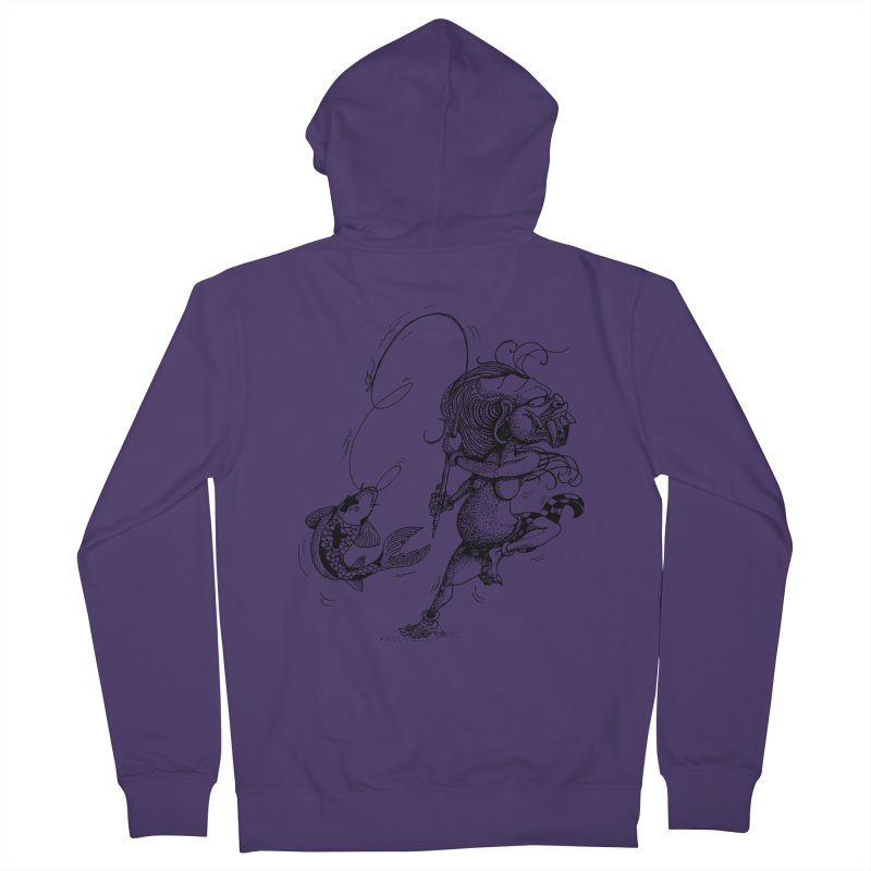 Celuluk Pisces Women's French Terry Zip-Up Hoody by DuMBSTRaCK CLoTH iNK PROJECT