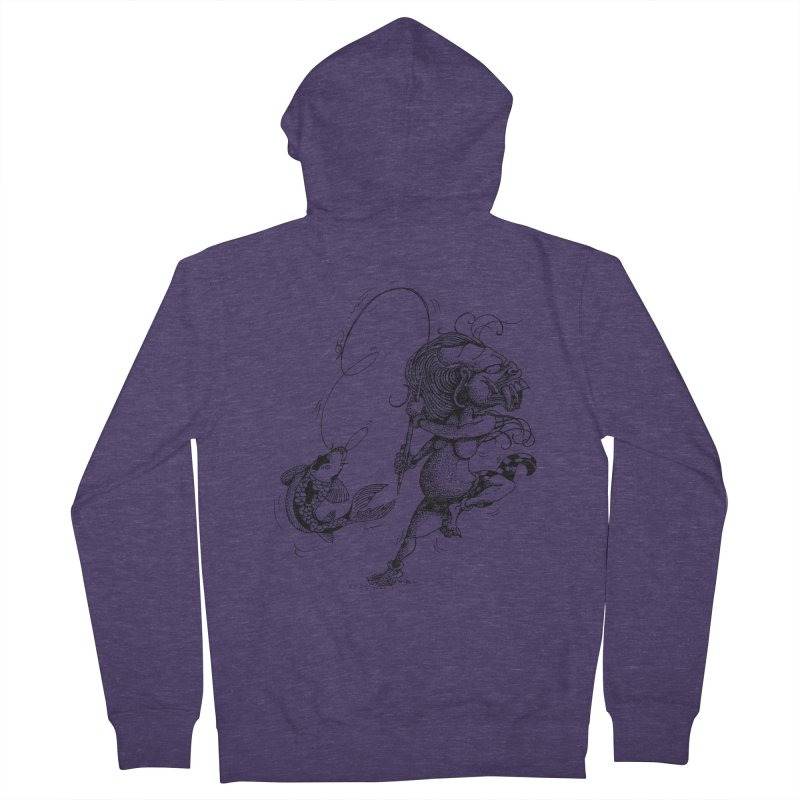 Celuluk Pisces Men's French Terry Zip-Up Hoody by DuMBSTRaCK CLoTH iNK PROJECT