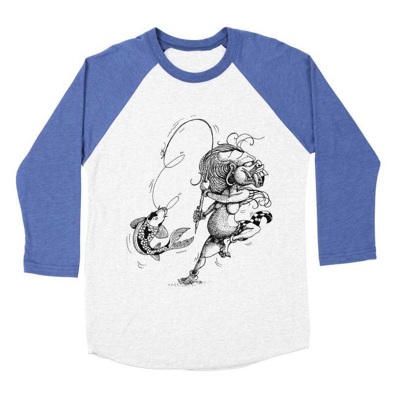 Celuluk Pisces Women's Baseball Triblend Longsleeve T-Shirt by DuMBSTRaCK CLoTH iNK PROJECT