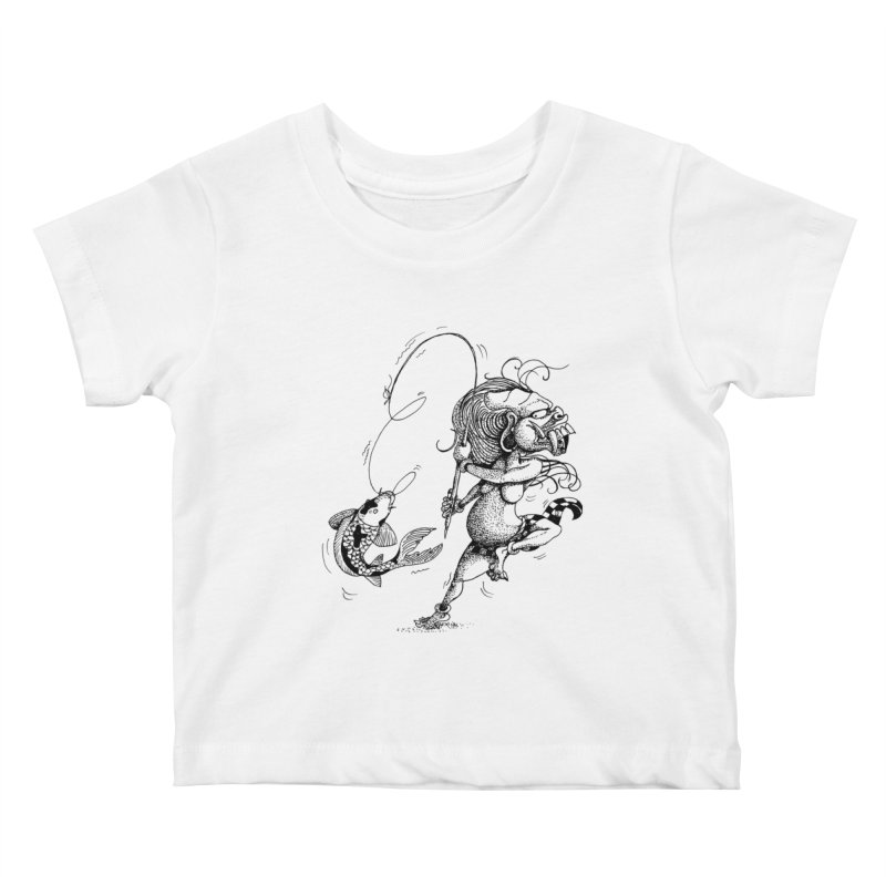 Celuluk Pisces Kids Baby T-Shirt by DuMBSTRaCK CLoTH iNK PROJECT