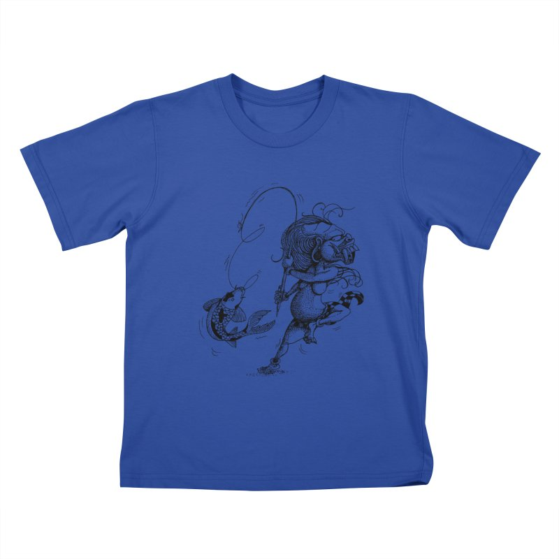 Celuluk Pisces Kids T-Shirt by DuMBSTRaCK CLoTH iNK PROJECT