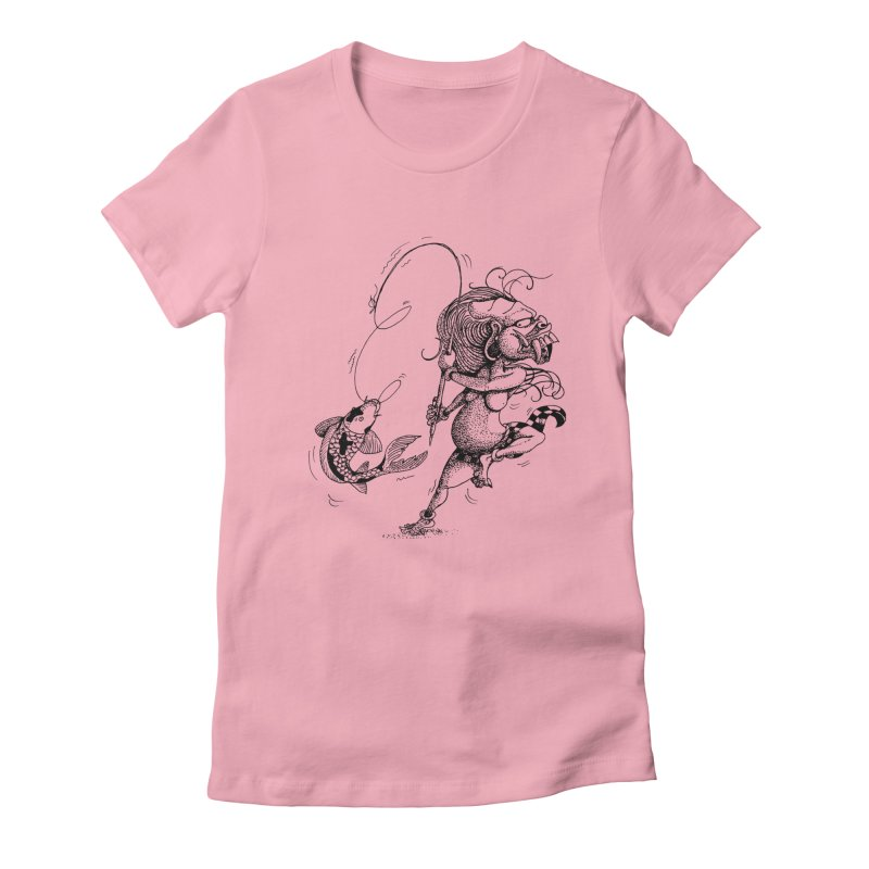 Celuluk Pisces Women's Fitted T-Shirt by DuMBSTRaCK CLoTH iNK PROJECT