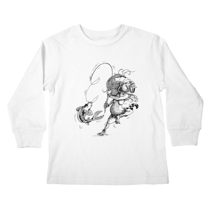 Celuluk Pisces Kids Longsleeve T-Shirt by DuMBSTRaCK CLoTH iNK PROJECT
