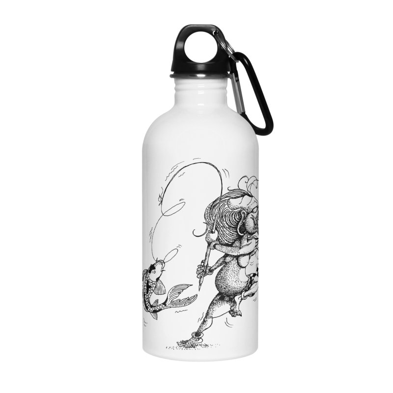 Celuluk Pisces Accessories Water Bottle by DuMBSTRaCK CLoTH iNK PROJECT