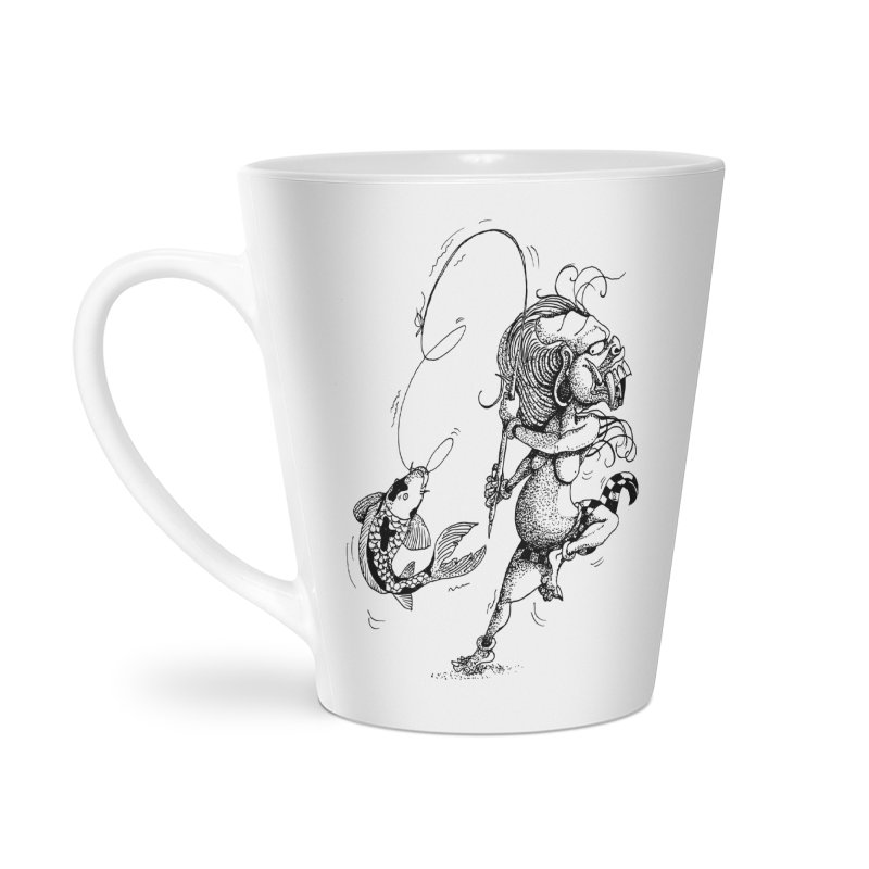 Celuluk Pisces Accessories Latte Mug by DuMBSTRaCK CLoTH iNK PROJECT