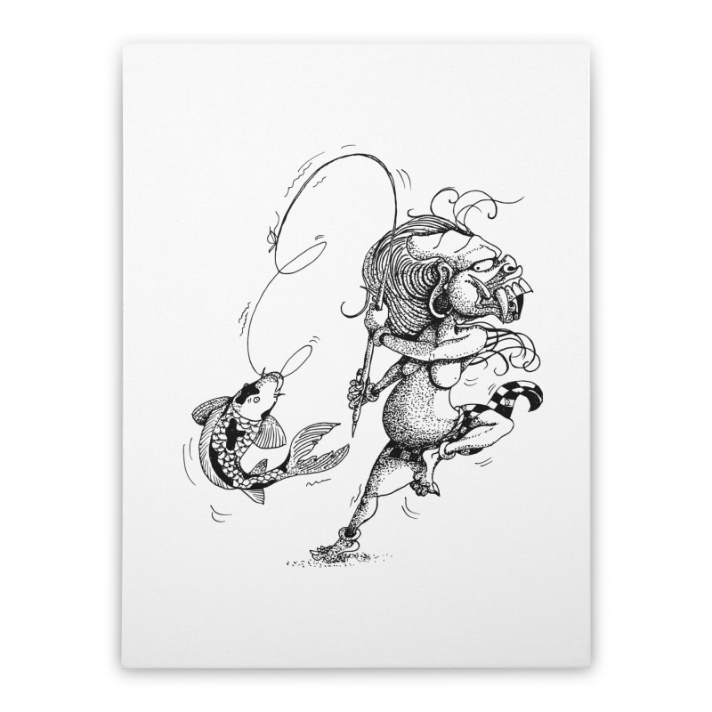 Celuluk Pisces Home Stretched Canvas by DuMBSTRaCK CLoTH iNK PROJECT